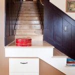 Custom Wood Staircase Cabinet